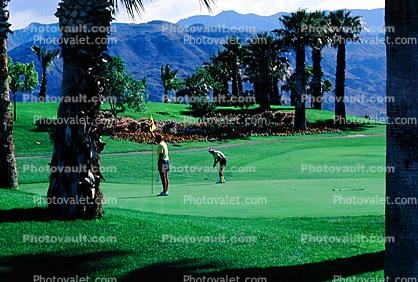 sand trap, water hazard, Palm Springs