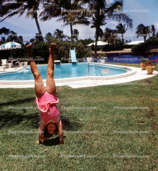 Handstand, Hand Stand, Swimming Pool, 1960's