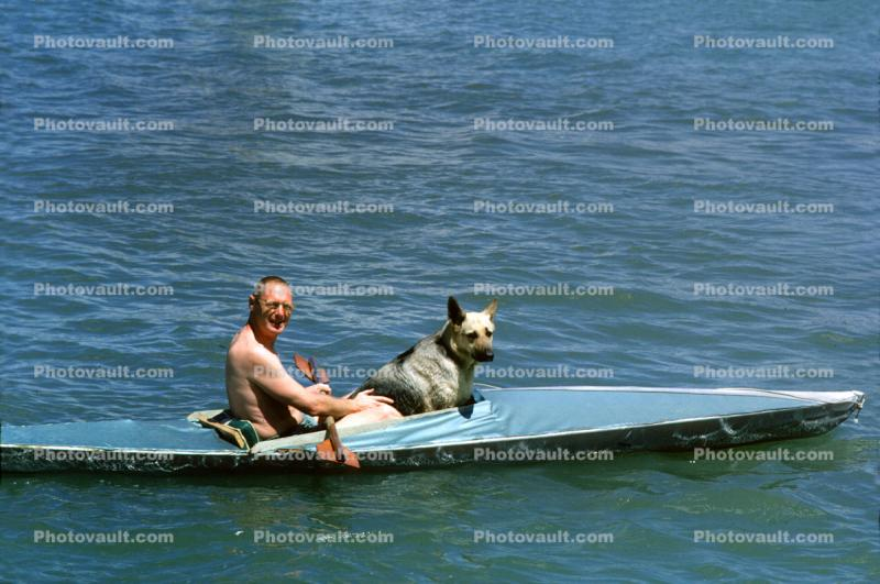 oarsman, oarsmen, kayak, paddle, June 1966, 1960s