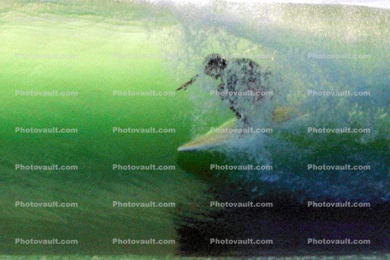 In-the-tube, Topanga Beach, Surfer, Surfboard