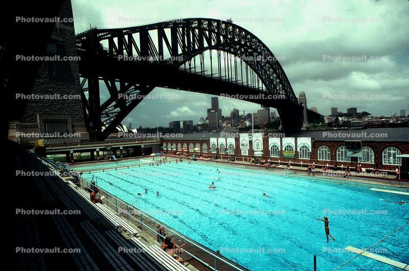 Swimming Pool, Sydney Harbor Bridge, Pool, Steel Through ...