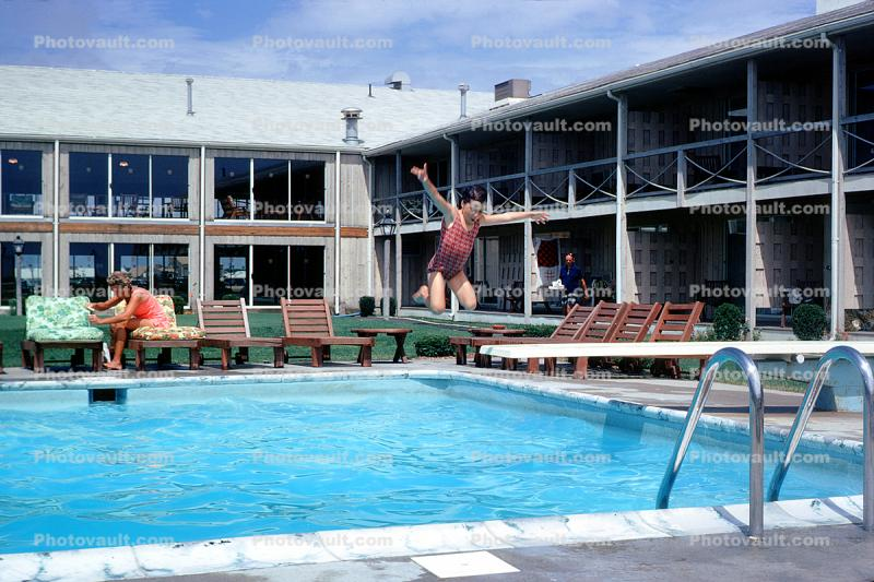 Swimming Pool, Diving Board, Jumping, Summer, Sunny ...