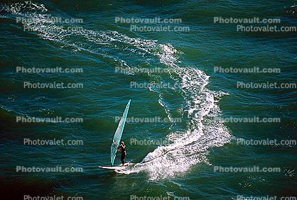 Windsurfer, water, wave, San Francisco Bay, California
