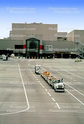ground personal, carts, baggage tractors