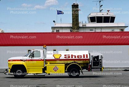 shell, fuel, gasoline truck fueling, refueling equipment, tanker
