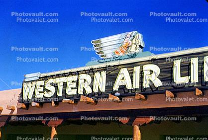 Western Airlines WAL, Chief Logo,1952, 1950s