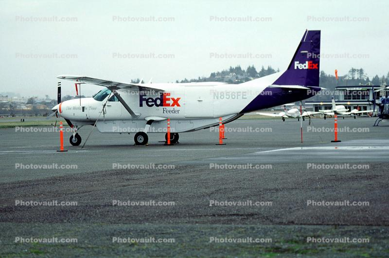 N856FE, Cessna Model 208B Caravan, FedEx Feeder, PT6A