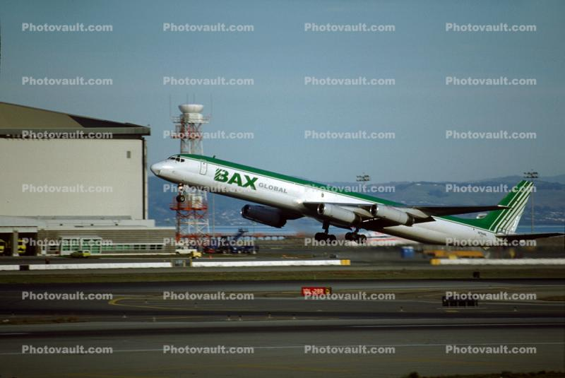 N784AL, BAX, Douglas DC-8, taking-off, airborne, flight