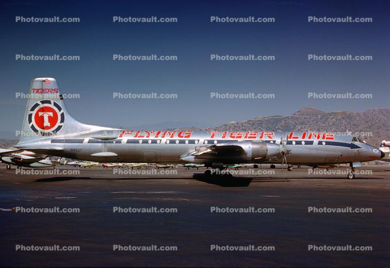N452T, Flying Tiger Line, Canadair CL-44D4-2