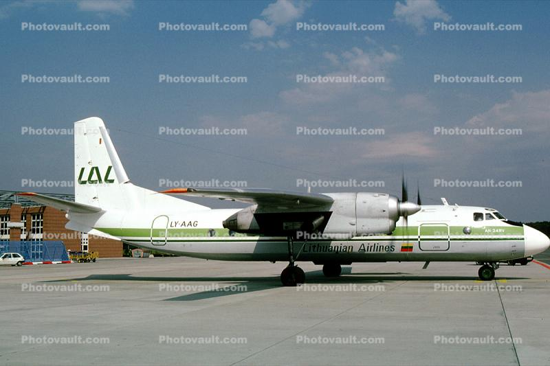 LY-AAG, Lithuanian Airlines, AN-24RV