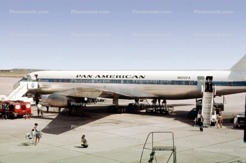 N800PA, Douglas DC-8-32, Pan American Airlines PAA, Jet Clipper Flying Cloud, 1961, 1960s