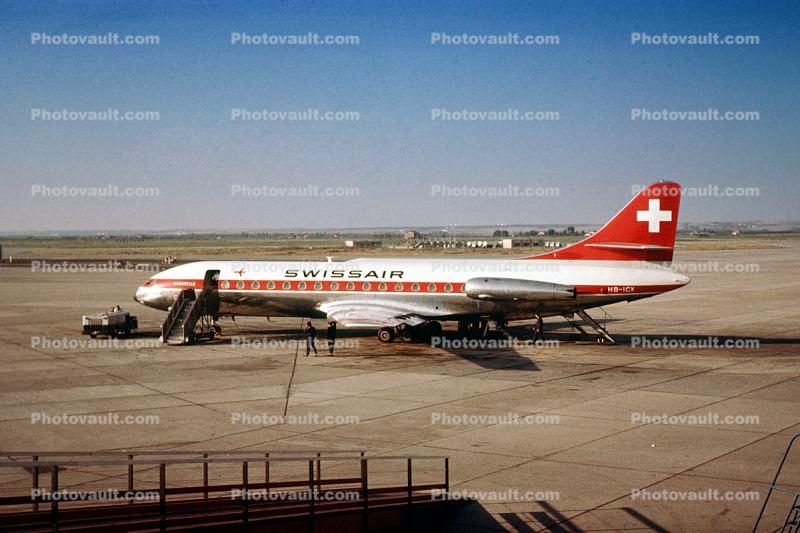 HB-ICX, SwissAir, Sud Aviation SE 210 III Caravelle, 1960s