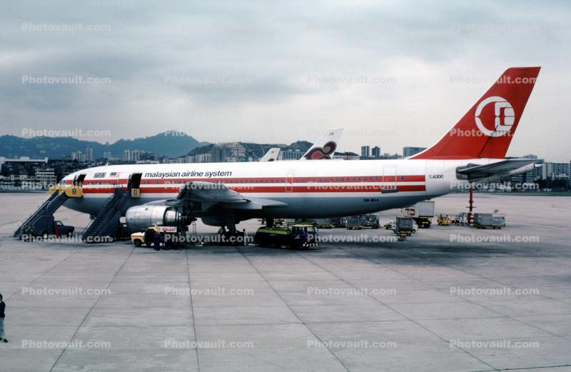 9M-MHA, Malaysian Airlines MAS, A300-B4-203, 1982, 1980s