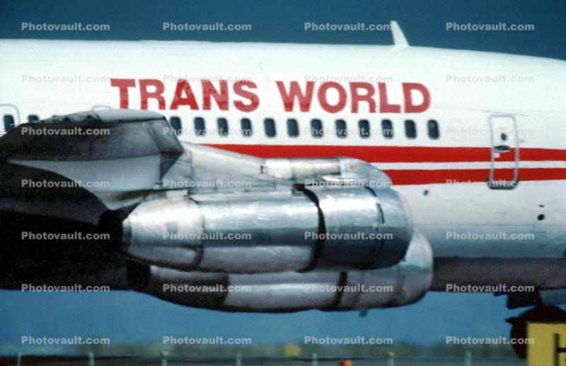 Trans World Airlines, TWA, Boeing 707, San Francisco International Airport (SFO), September 1982, 1980s