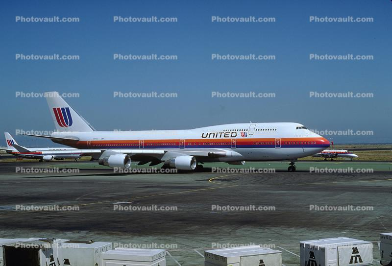 Boeing 747-422, (SFO), 747-400 series, N171UA, United Airlines UAL, PW4056, PW4000