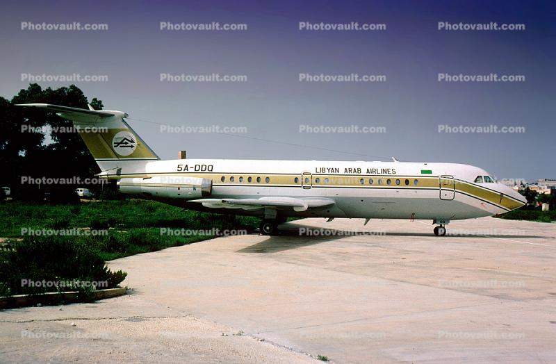 5A-DDQ, Libyan Arab Airlines, British Aircraft Corporation BAC One Eleven 414EG