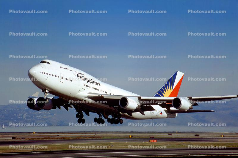 N754PR, Boeing 747-469, Philippine Airlines PAL, (SFO)