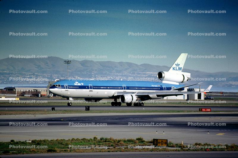 PH-KCF, McDonnell Douglas MD-11P, San Francisco International Airport (SFO), KLM Airlines, CF6-80C2D1F, CF6, Annie Romein