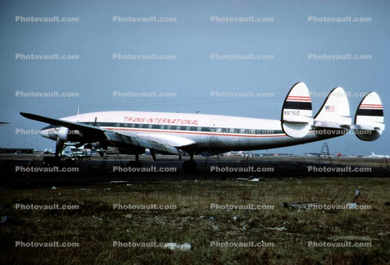 N9751C, Lockheed Constellation L1049G, Trans International Airlines