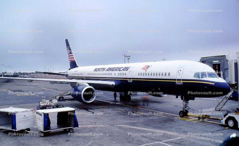 N754NA, North American Airlines NAO, Boeing 757-28A, RB211-535 E4, RB211, 757-200 series