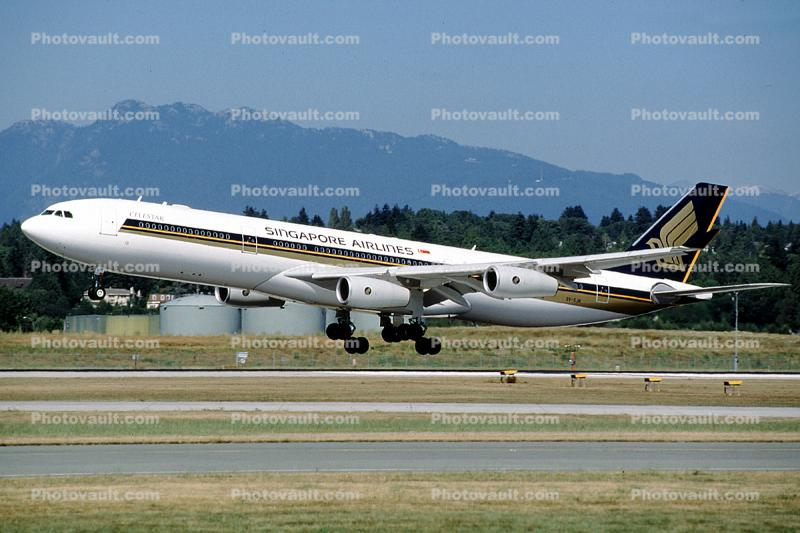 9V-SJM, Airbus A340-313X, Singapore Airlines SIA, CELESTAR, A340-300 series, Celestar, taking-off
