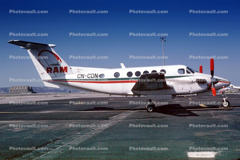 CN-CDN, Beech 200 Super King Air, RAM Royal Air Maroc, PT6A