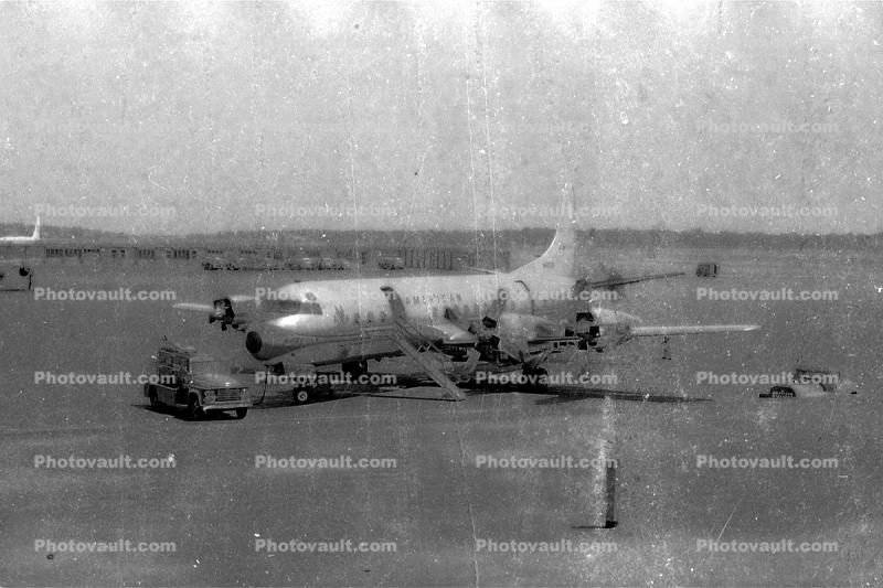 American Airlines AAL, Lockheed L-188 Electra, 1950's