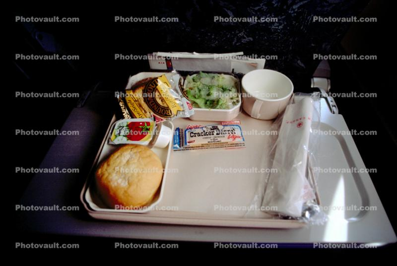 Bread, Salad, cookie, tray