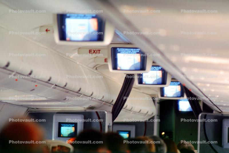 IFE, In flight entertainment, televisions