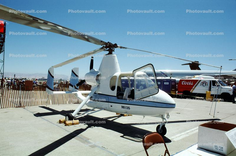N6113S, Autogyro, Patrol, Air & Space America Inc 18A, Lycoming, milestone of flight