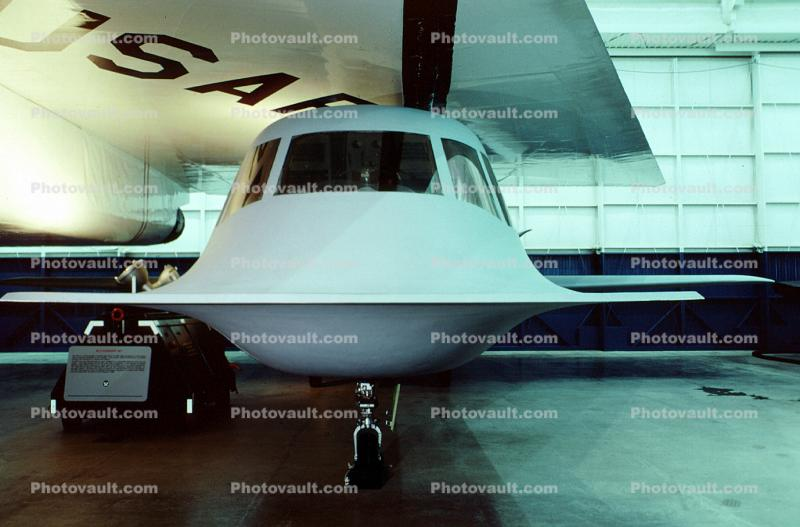 Northrop Tacit Blue, head-on, Technology Demonstrator Aircraft, DARPA, USAF, Museum