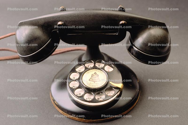 Dial Phone, Rotary, Desk Set, Old Phone, Bakelite, antique, 1930s