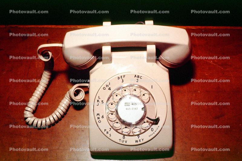 Dial, Rotary, Phone, 500 Type Desk Set, 1950s