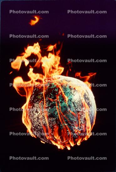 Global Warming, Earth, Globe, Ball, The World Ablaze, Burning Globe, flames, fire, circle, round, Climate Change, circular