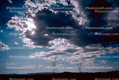 Transmission Towers, Pylons, Clouds