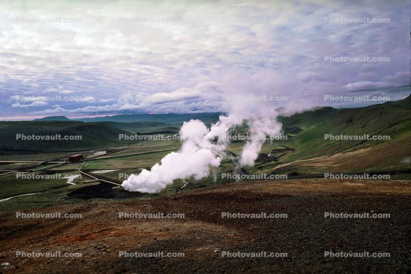 Steam, Geothermal Power Powerplant