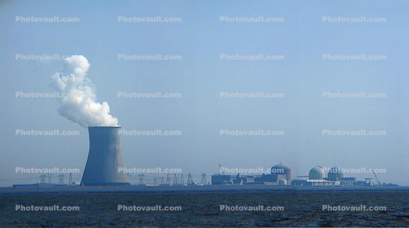 Cooling Towers, Salem Nuclear Power Plant, Lower Alloways Creek Township, New Jersey
