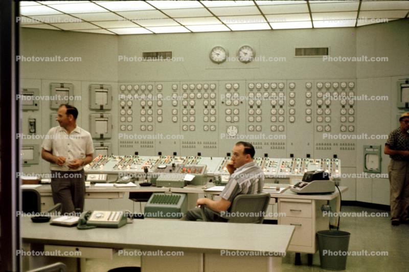 Control Room, Nuclear Power Plant, 1980s