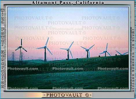 Wind farms, Altamont Pass