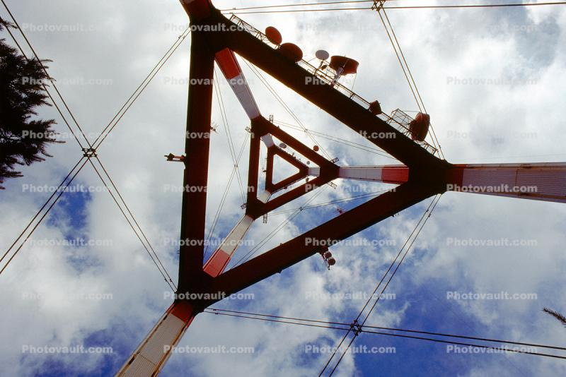 Sutro Tower, looking-up, Antenna, Structural system Truss tower, telecommunications, telecom