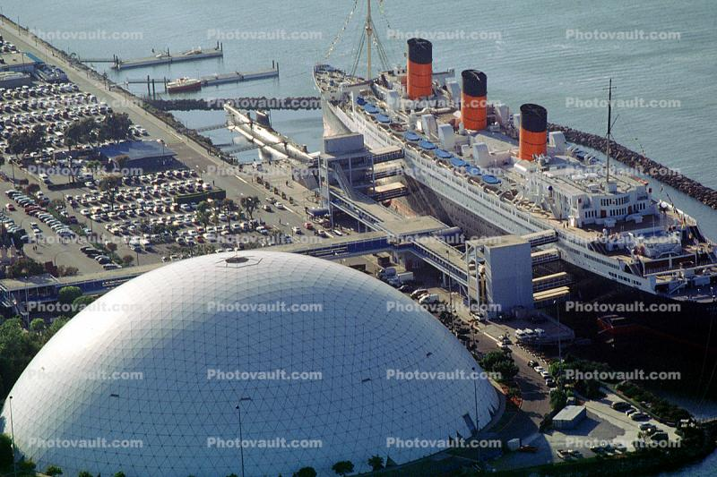 Queen Mary, Ocean Liner, Cunard Line, geodesic dome, Cruise Ship, Steamship