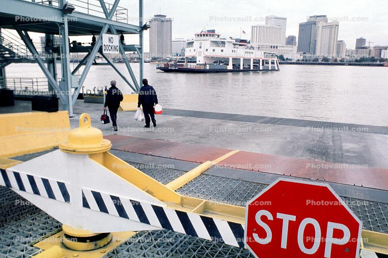 STOP, Car Ferry, Mississippi River, New Orleans, Ferry, Ferryboat