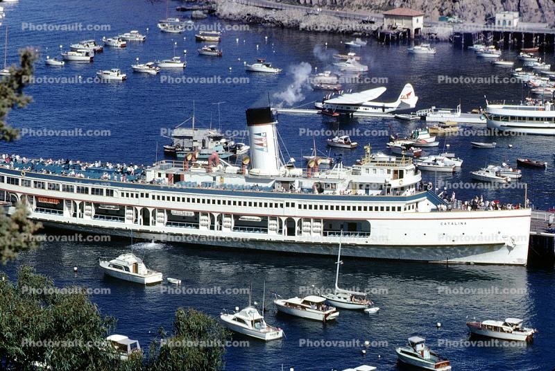 SS-Catalina, Avalon Harbor, Catalina Island, Sikorsky VS-44A, Avalon Air, 1964, 1960s