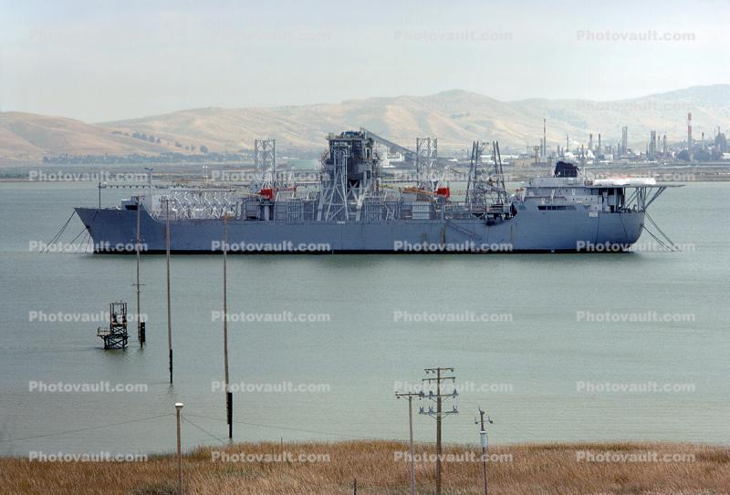 Hughes Glomar Explorer, National Defense Reserve Fleet, Suisun Bay, Project Azorian, May 14, 1981