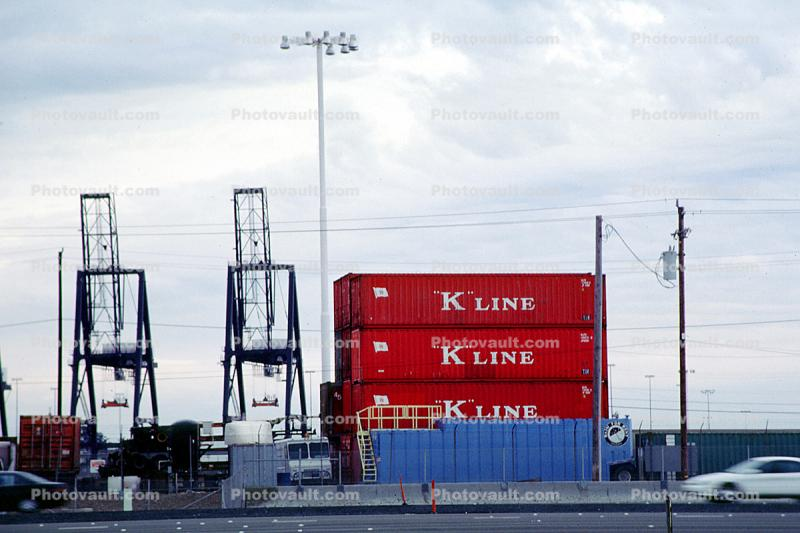 K-Line, Gantry Crane, Dock, Harbor