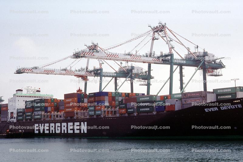 Ever Devote, Evergreen, Gantry Crane, Harbor
