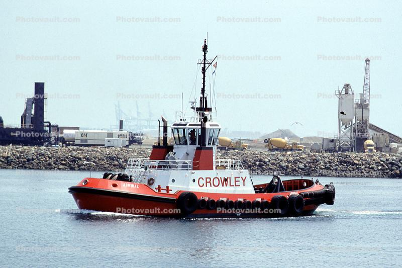 Crowley Admiral, Harbor, redboat, redhull, tugboat, Towing Vessel, IMO: 9188544
