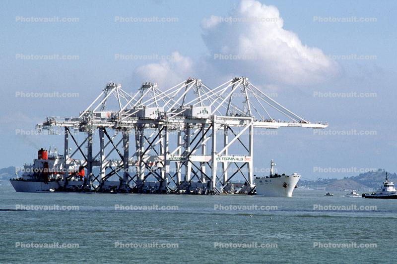Zhen hua 1, Heavy Load Carrier, IMO: 7506572, ZPMC, Port of Oakland, Gantry Crane, Harbor