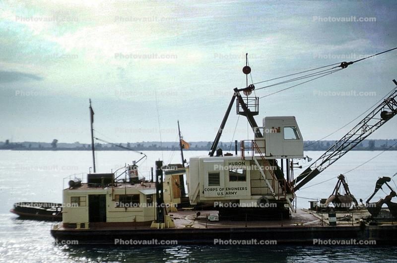 Crane, Army Corps of Engineers, Huron, Michigan, 1950s