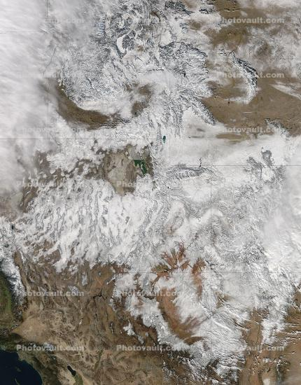 Snow Storm over the Rocky Mountains, Dec 20, 2012